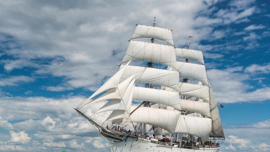 Un velero noruego de 1914 recalará el sábado en A Coruña en una expedición que lo llevará a dar la vuelta al mundo
