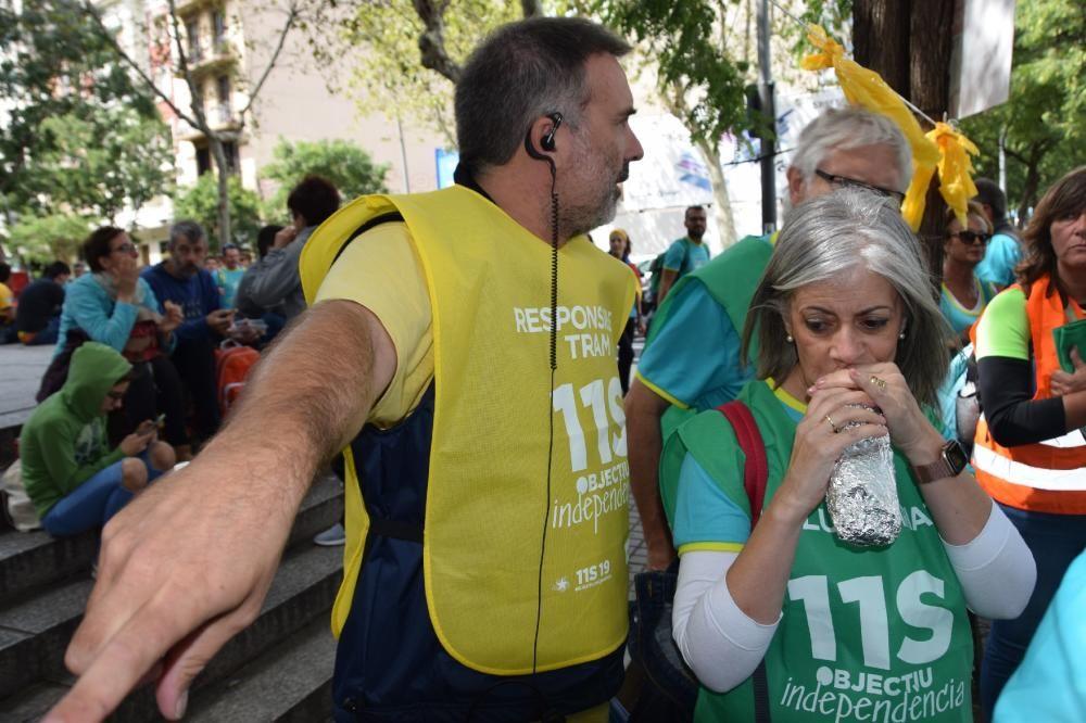 Berguedans a la manifestació de la Diada
