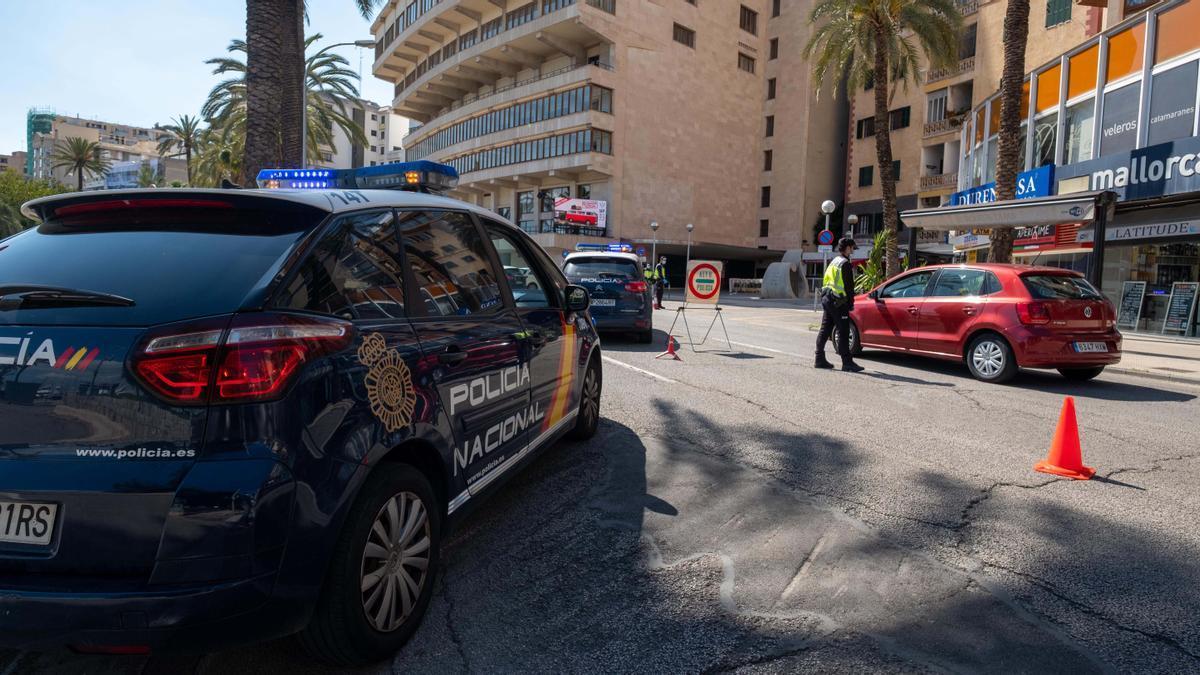 Control policial en Palma