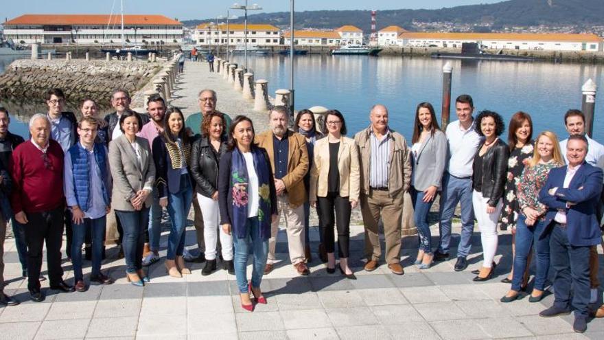 María Ramallo presenta su equipo para Marín