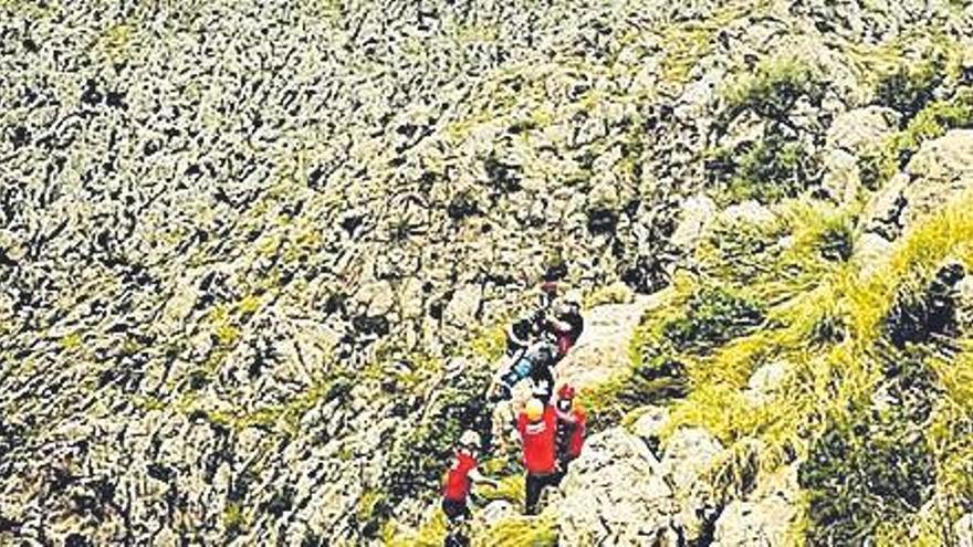 Rescatan a un excursionista herido tras una caída en el Torrent de Pareis
