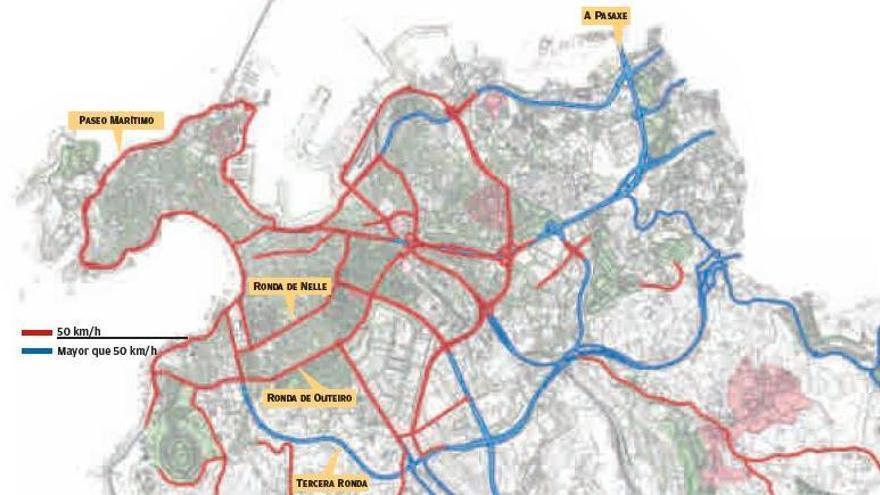 Guía para una nueva A Coruña a 30 kilómetros por hora