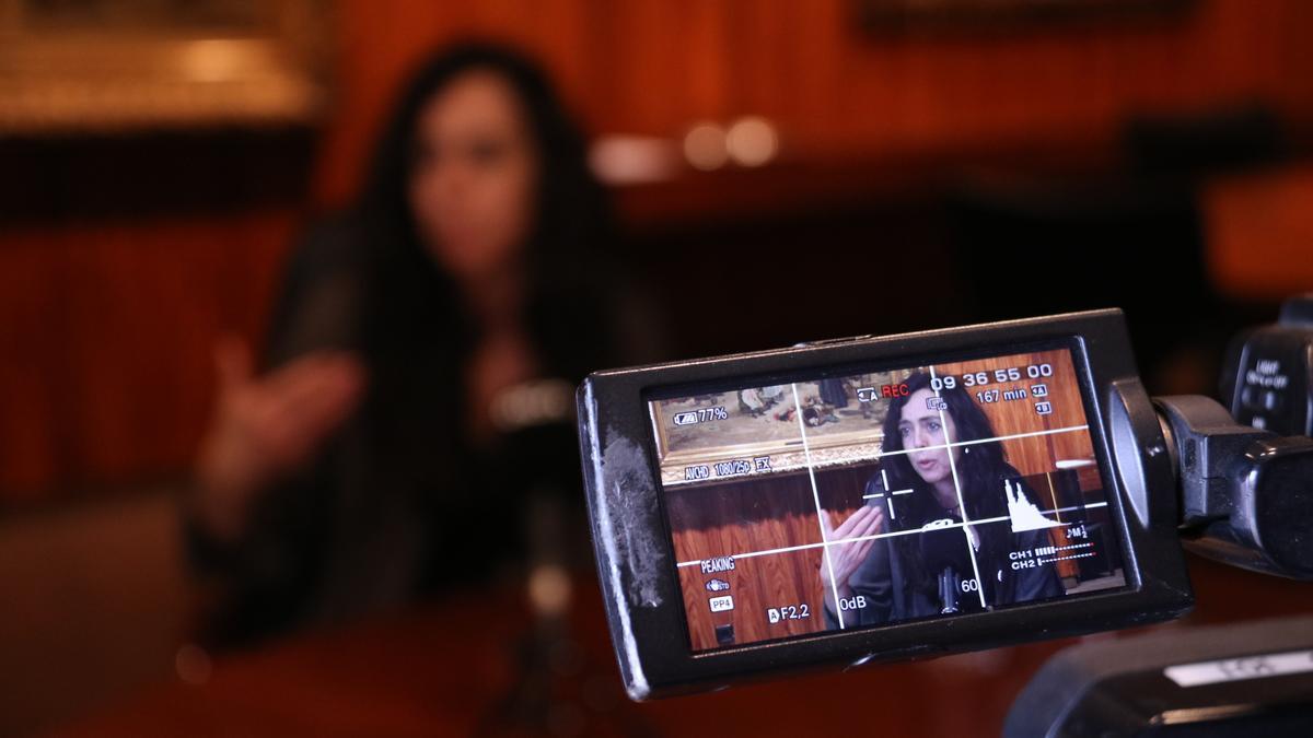 Presidenta de la Cambra de Comerç de Barcelona, Mònica Roca, en una entrevista amb l'ACN.
