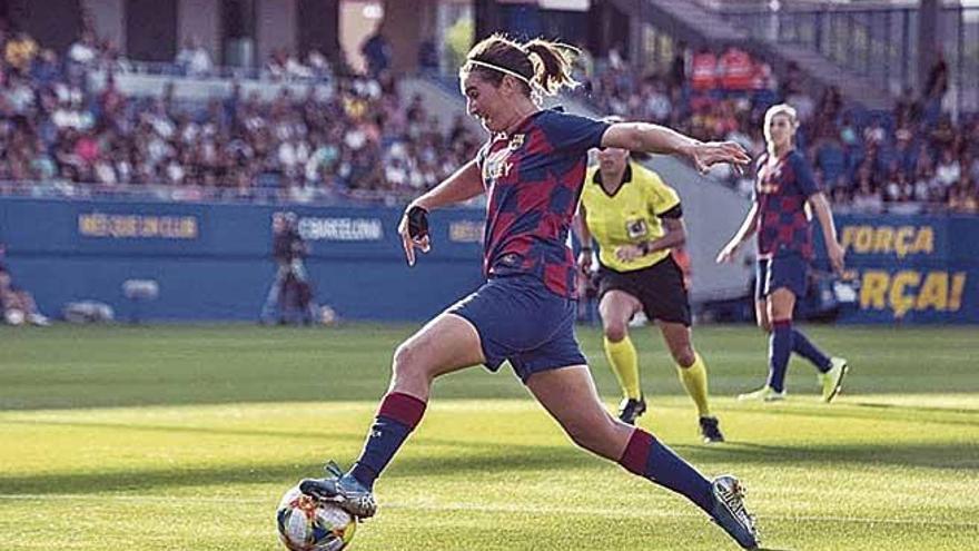 Caldentey se erige en protagonista en la goleada del Barça al Tacón