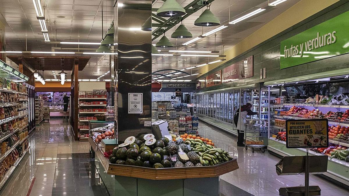 Un supermercado de Zamora capital. |