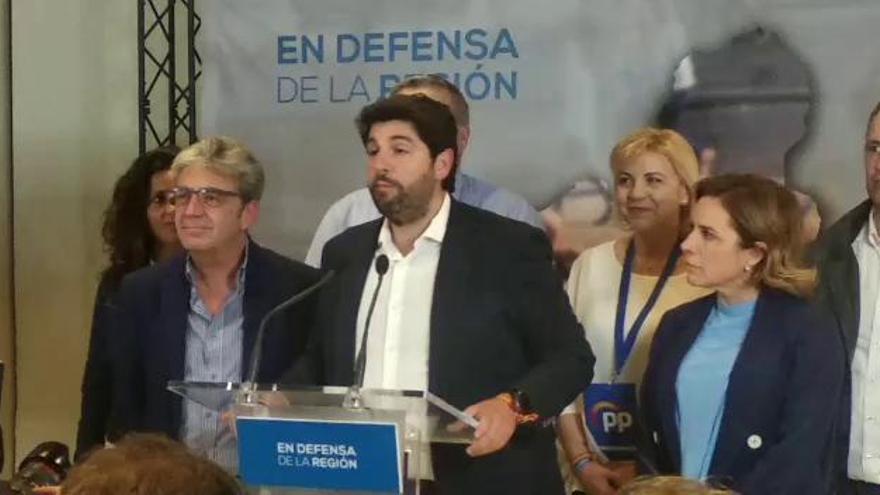 """López Miras: """"Tomamos nota del resultado electoral"""""""