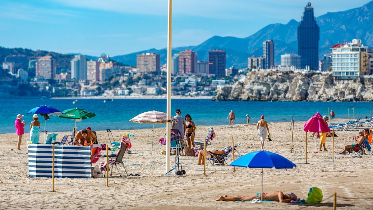 One of Benidorm's beaches in a file image.