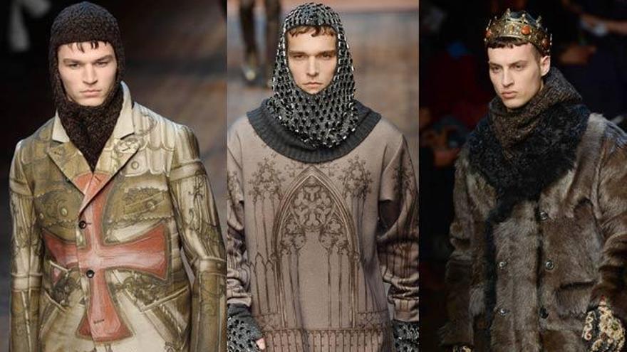 Dolce & Gabbana devuelve al hombre a la Edad Media