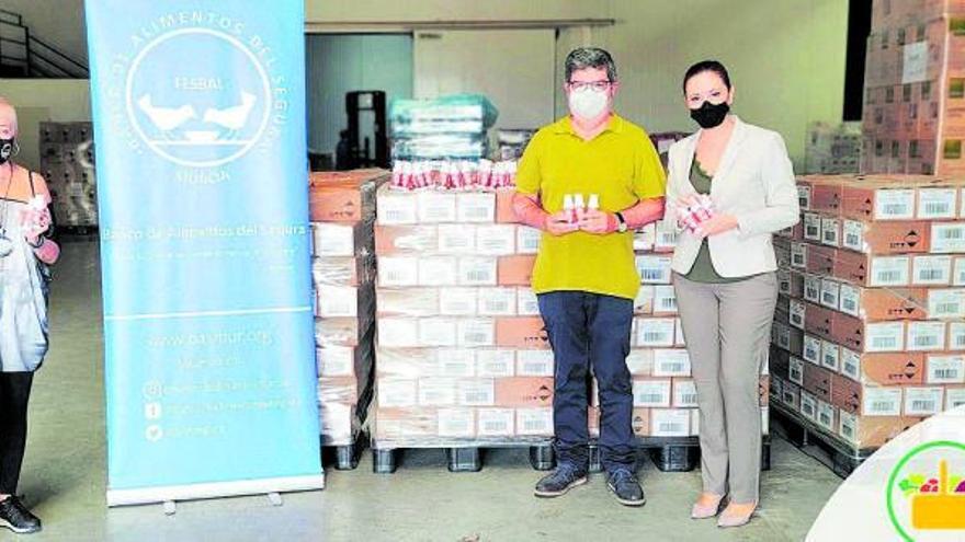 Mercadona dona 44.000 unidades de jabón de manos al banco de alimentos de Murcia