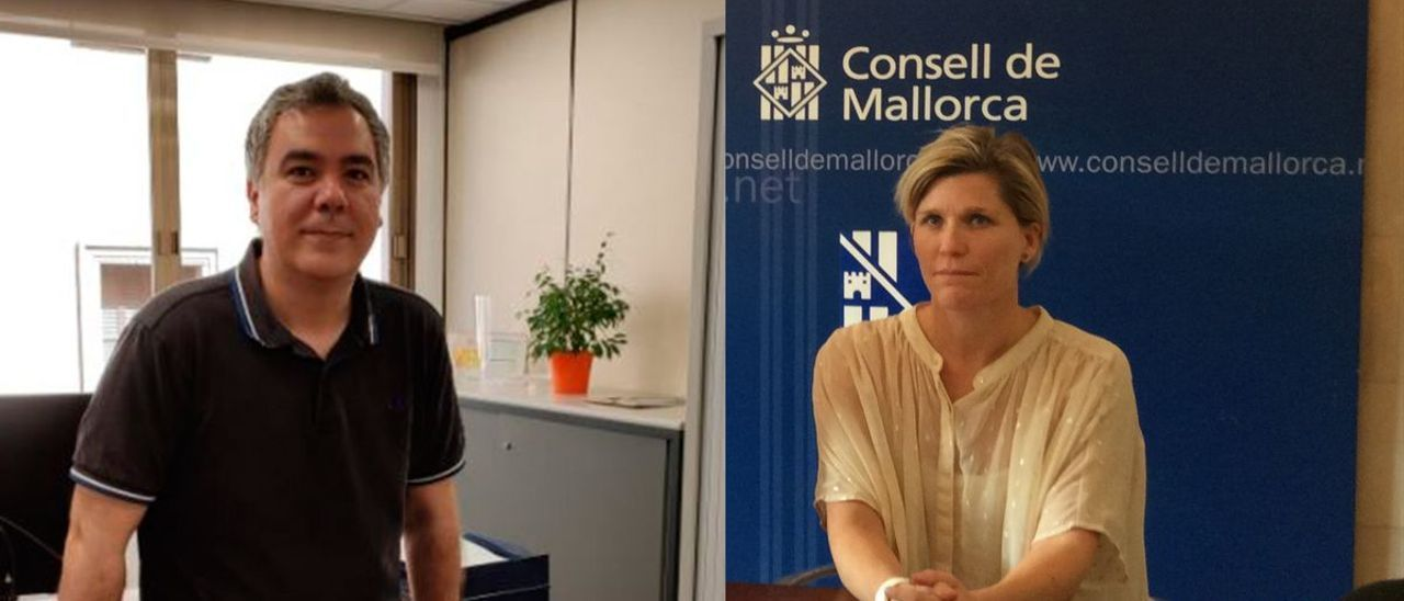 Carlos Villafáfila y Sofía Alonso, dos de los altos cargos vacunados.