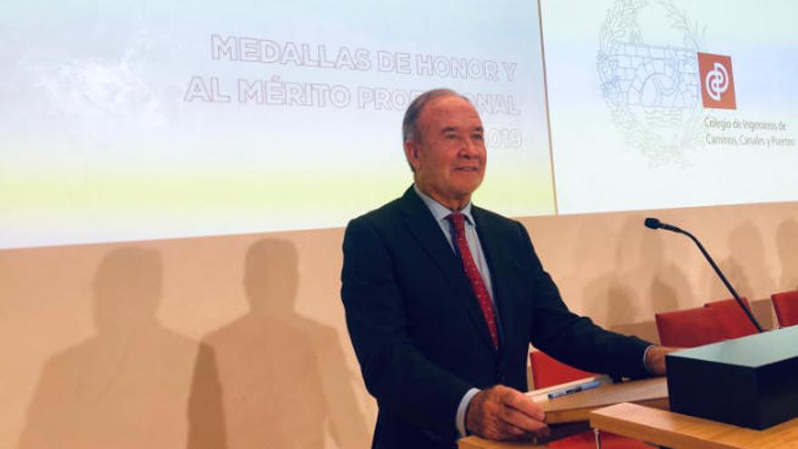 Juan Miguel Sanjuán, medalla de honor del Colegio de Ingenieros de Caminos, Canales y Puertos