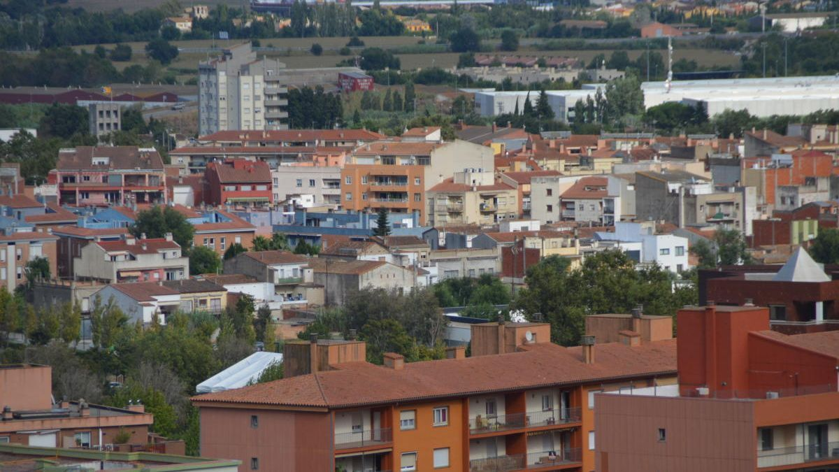 Vista general de Figueres desw del castell de Sant Ferran.