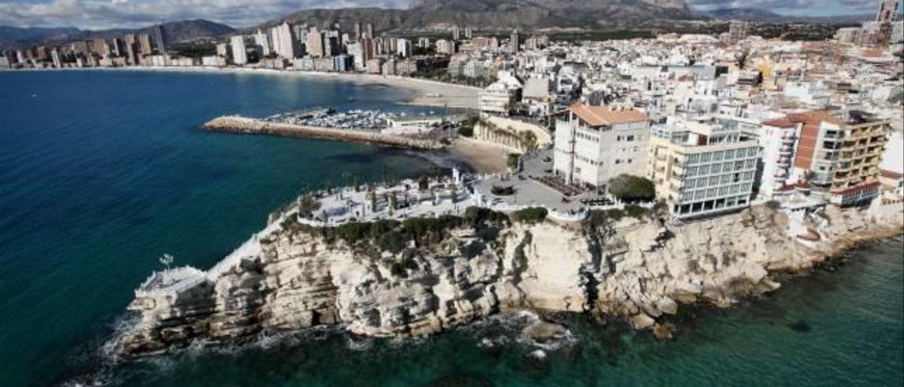 Vista aérea del Castell de Benidorm.