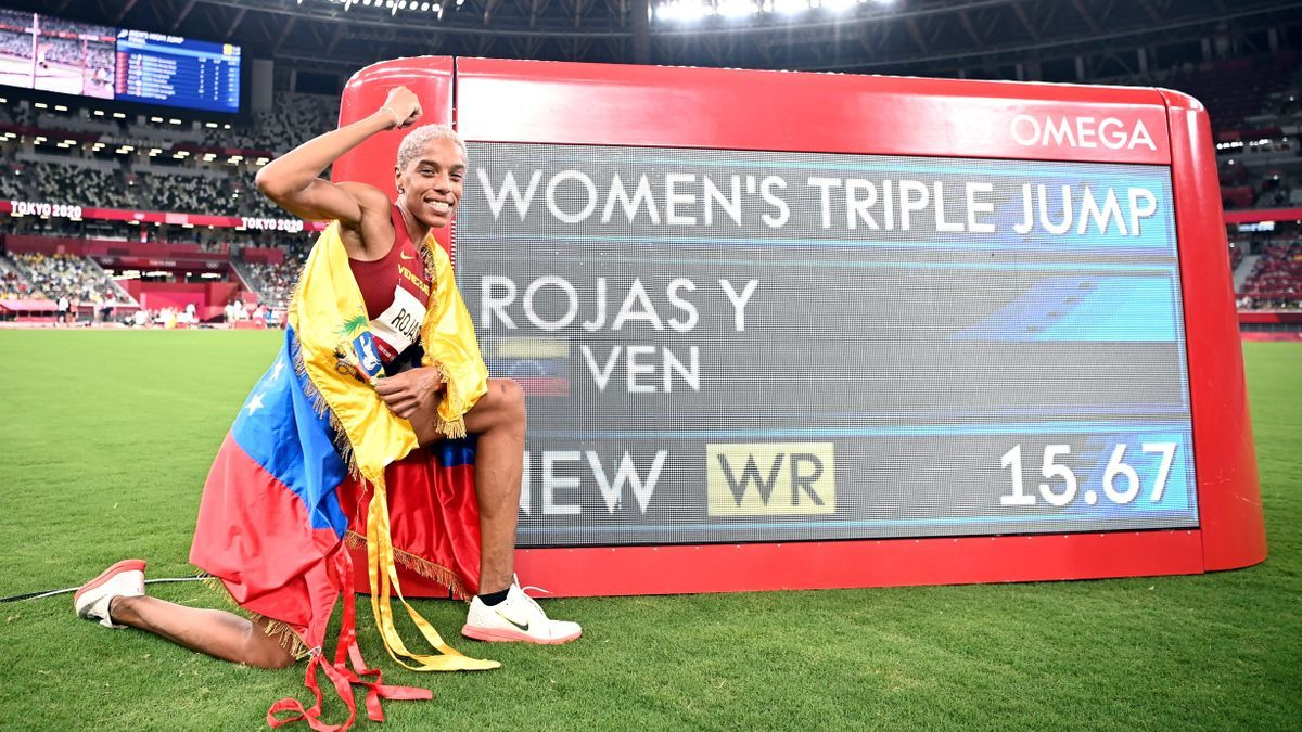 Yulimar Rojas, along with the record of his world record in triple jump.