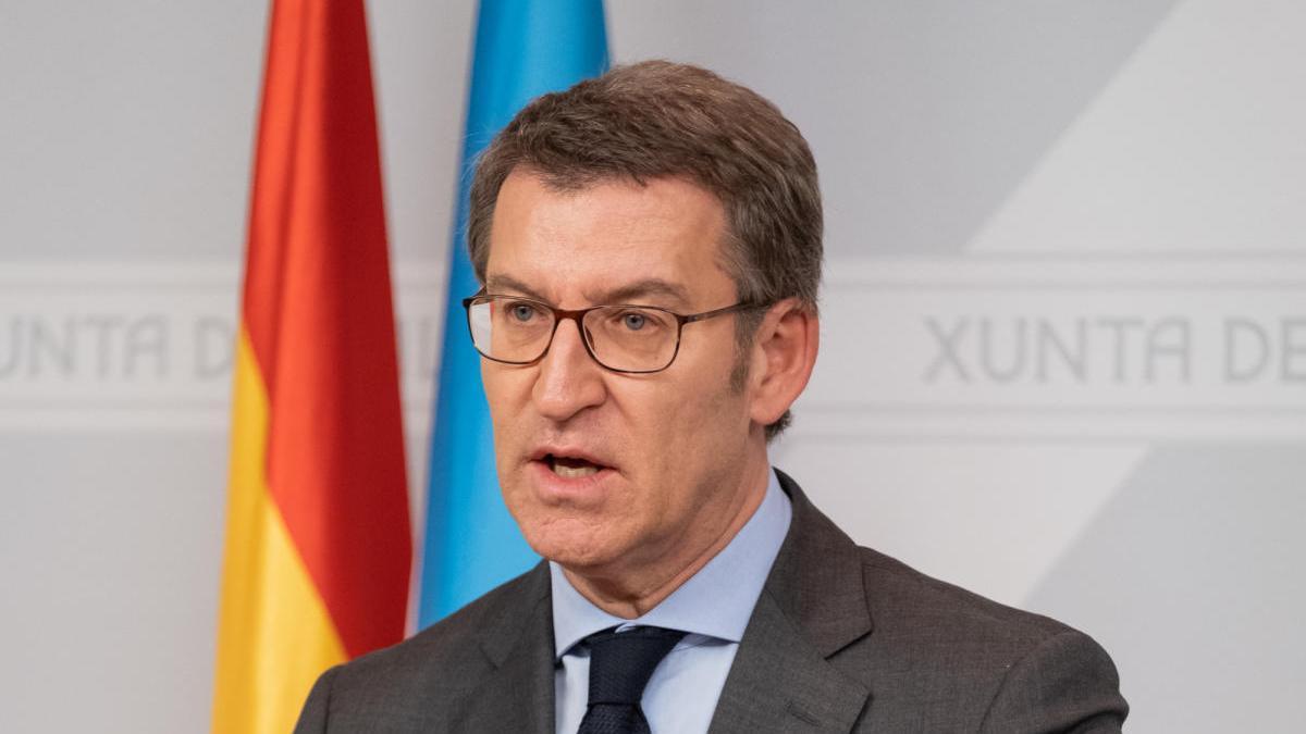El presidente de la Xunta, Alberto Núñez Feijóo. // David Cabezón