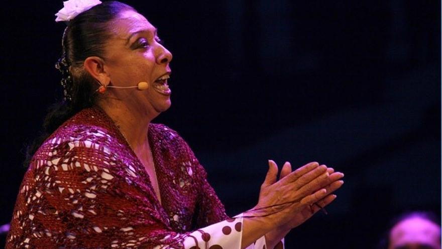 La cantaora malagueña Amparo Heredia 'La Repompilla' participa este lunes en el Aula de Flamenco