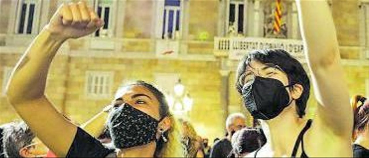 Concentración femenista el pasado 11 de junio en Barcelona.