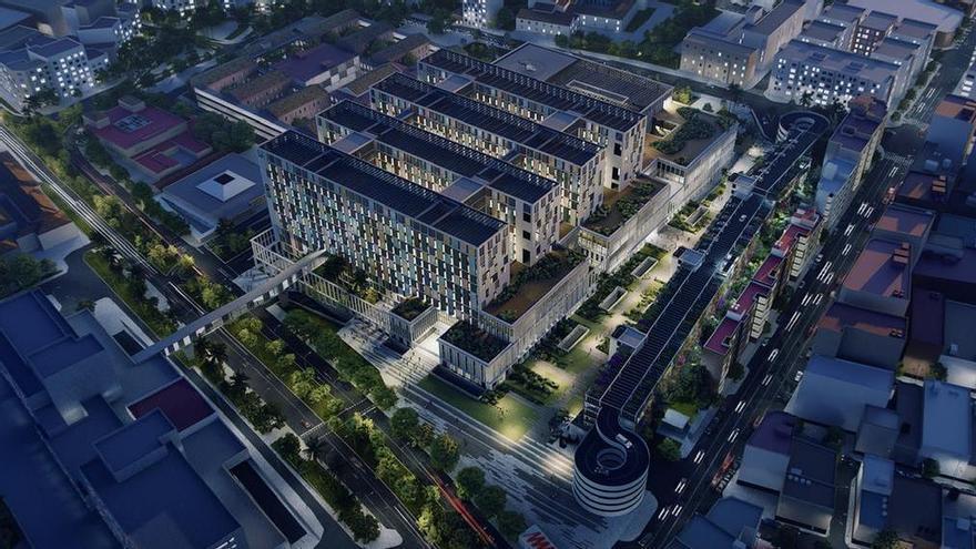 Recreación del proyecto del tercer hospital de Málaga.