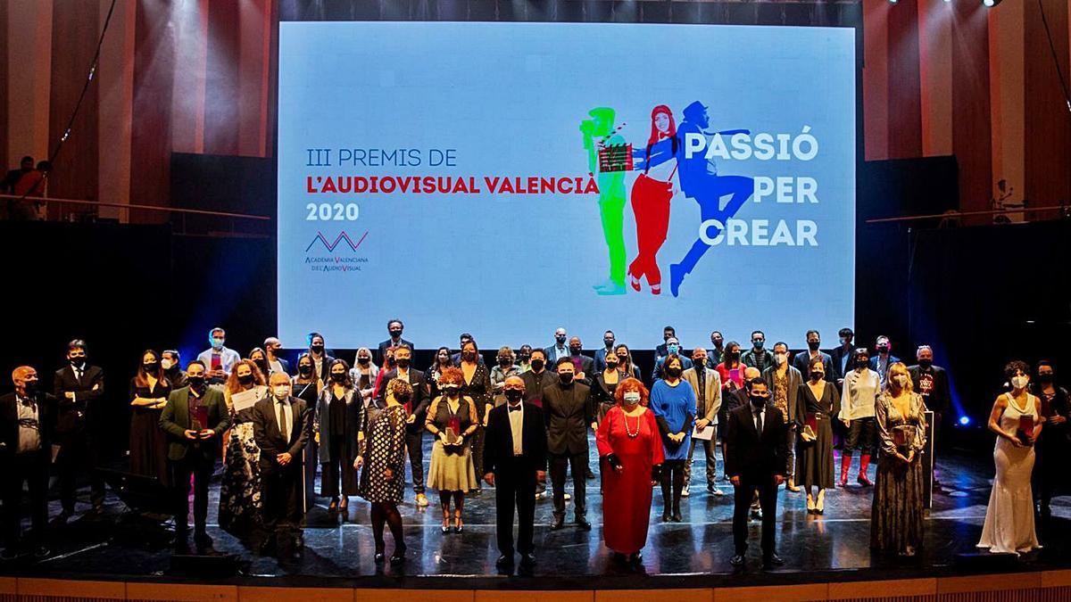 Un momento de la gala  de los Premios del  Audiovisual.  levante-emv