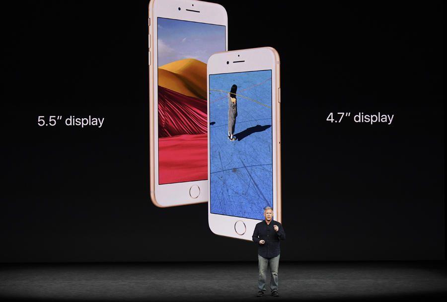 Pantalla de 5,5 pulgadas para el iPhone 8 Plus y de 4,7 para el iPhone 8.