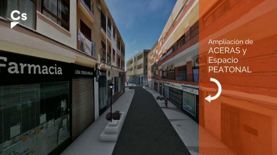 Ciudadanos realizará la semipeatonalización de la zona comercial de Cehegín