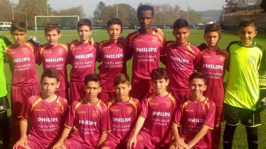 La selección alevín de fútbol 8, a cuartos en el Nacional de Vigo