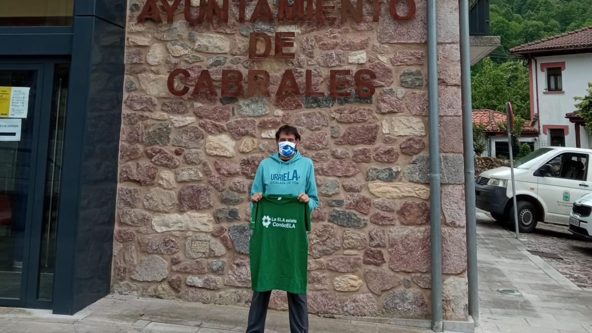 Miguel Ángel Roldán, en Asturias, donde el lunes realizará su nuevo reto para visibilizar la ELA.