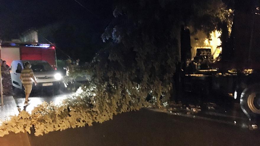 Un breu però violent temporal deixa sense llum pobles de l'Alt Urgell i la Cerdanya