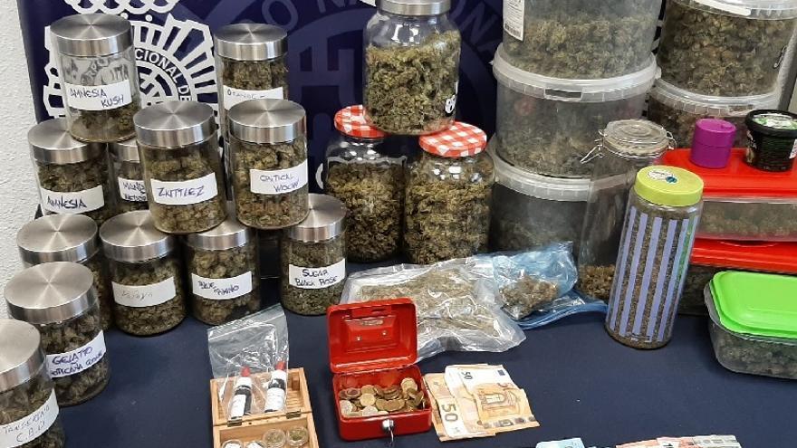 Desmantelan local de una asociación de fumadores de cannabis que funcionaba para venta de drogas