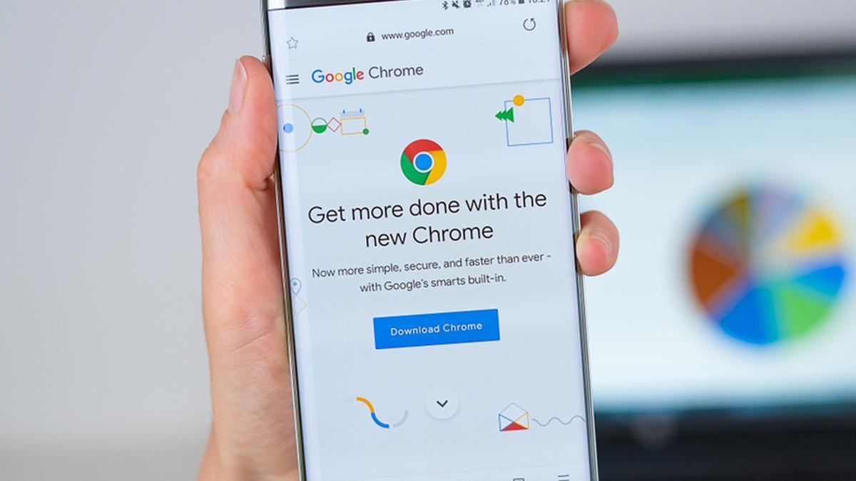 Una pantalla de Chrome en un móvil Android.