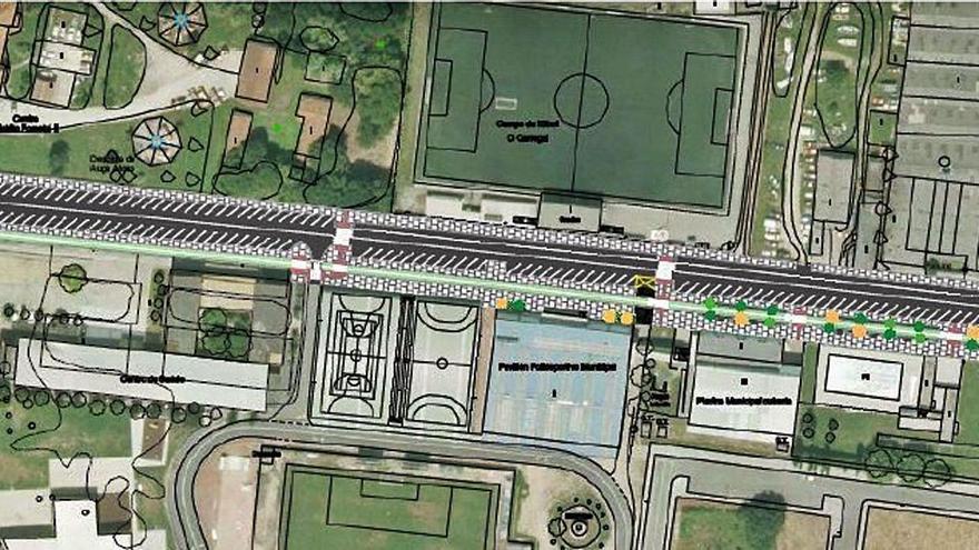 Betanzos pide autorización ambiental para un carril bici en la avenida de O Carregal