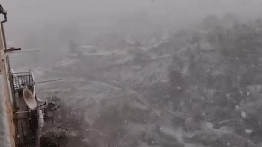 Nieve en Bocairent en pleno puente de San José