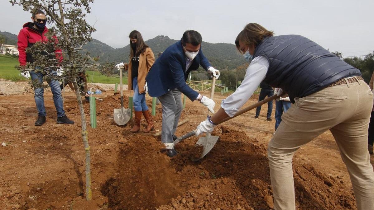 La Junta planta cien árboles en Santa Ana de la Albaida para celebrar el 28-F