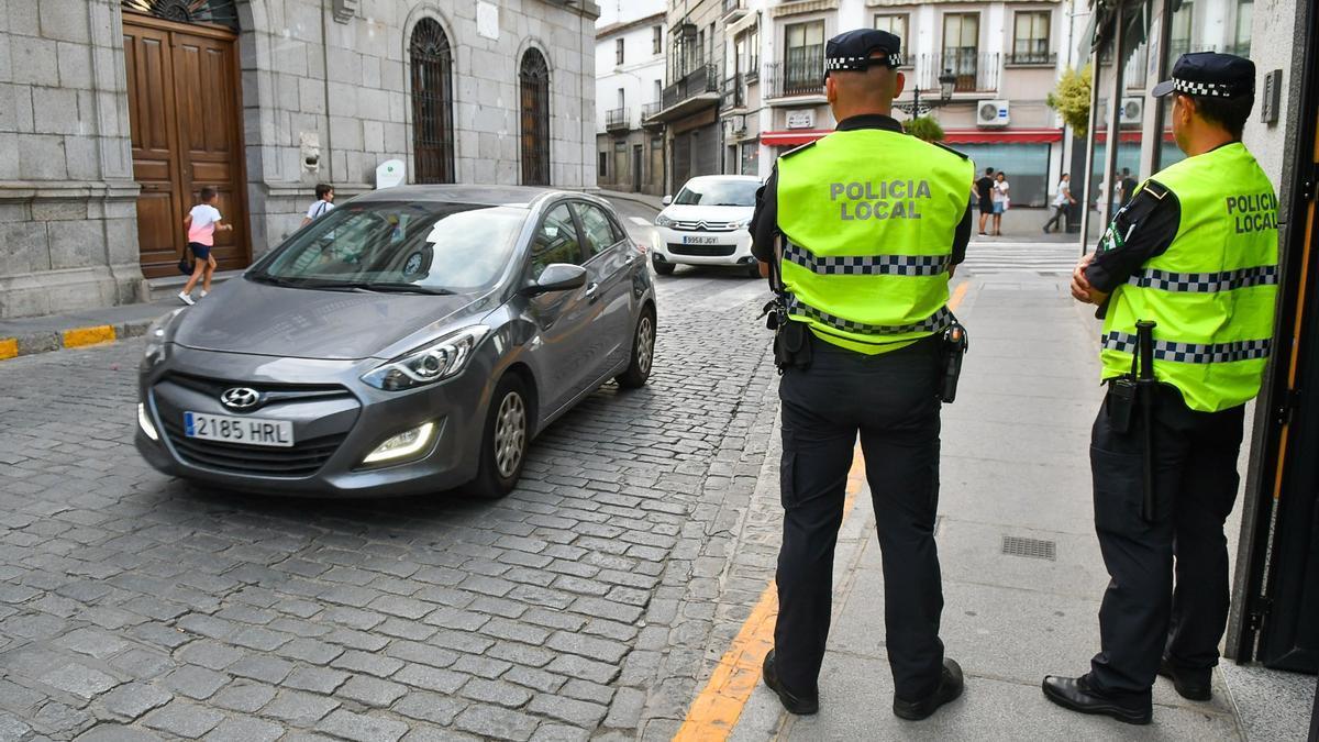 Agentes de la Policía Local de Pozoblanco.