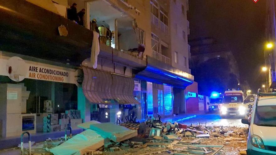 Así ha quedado el interior del edificio tras la explosión en la calle Diego Ramírez de Torrevieja