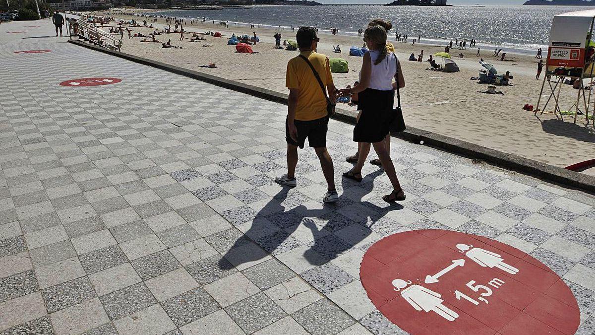 El Concello usará en Príncipe el sistema de filas peatonales que estrena en Samil