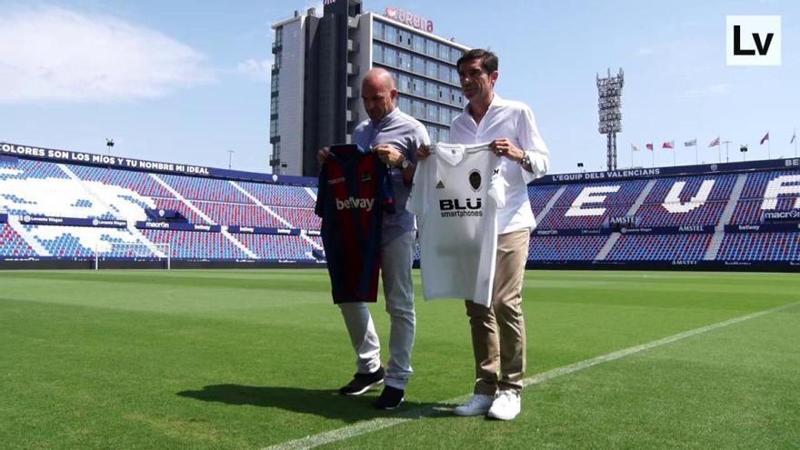 """Marcelino y Paco López ven dos equipos """"muy parecidos"""" en el derbi"""