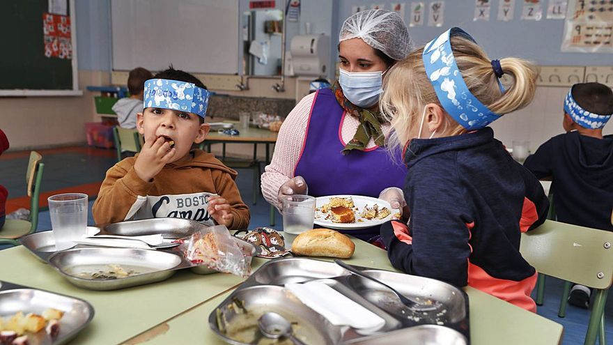 Comedores escolares y aulas matinales arrancan con un 10% más de alumnos