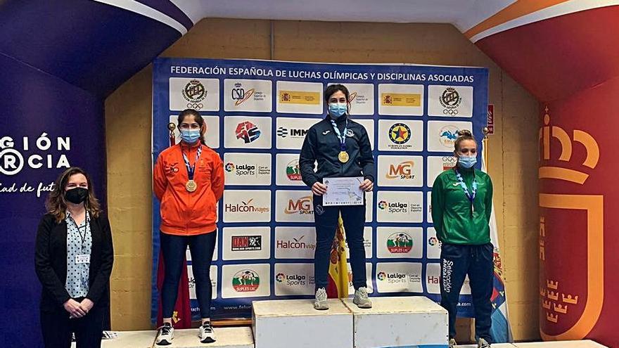 Nerea Pampín se proclama campeona de España de luchas olímpicas