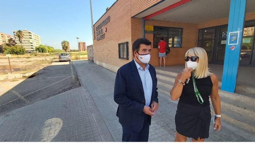 Ciudadanos critica los encharcamientos en el Colegio de Benimaclet