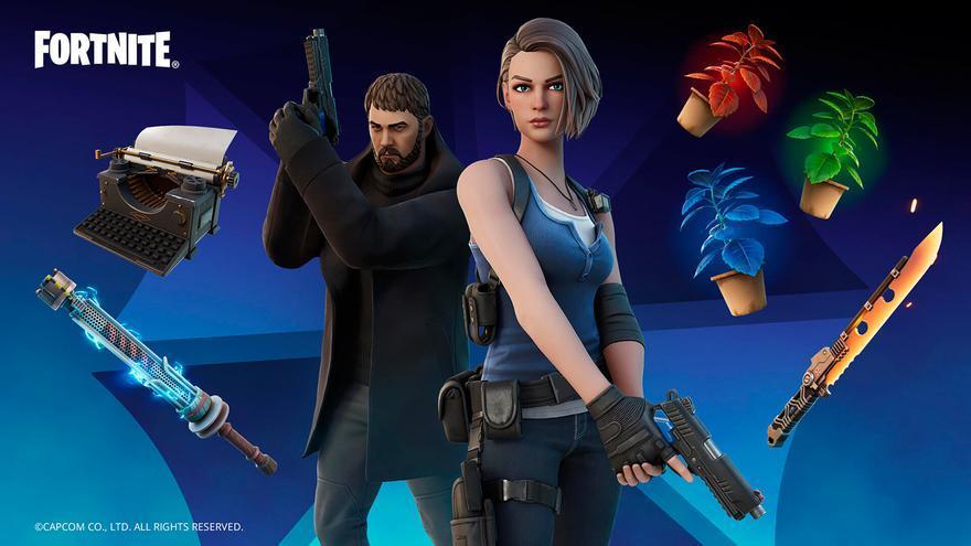 Jill y Chris de Resident Evil se apuntan al 'Battle Royale' con su estreno en 'Fortnite'
