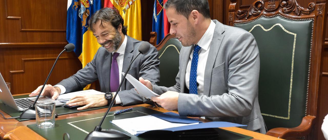 Héctor Suárez, alcalde de Telde, en la última sesión plenaria presencial