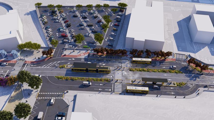 El Ayuntamiento capitalino adjudica la construcción de un nuevo aparcamiento intermodal de 300 plazas en el Cono Sur