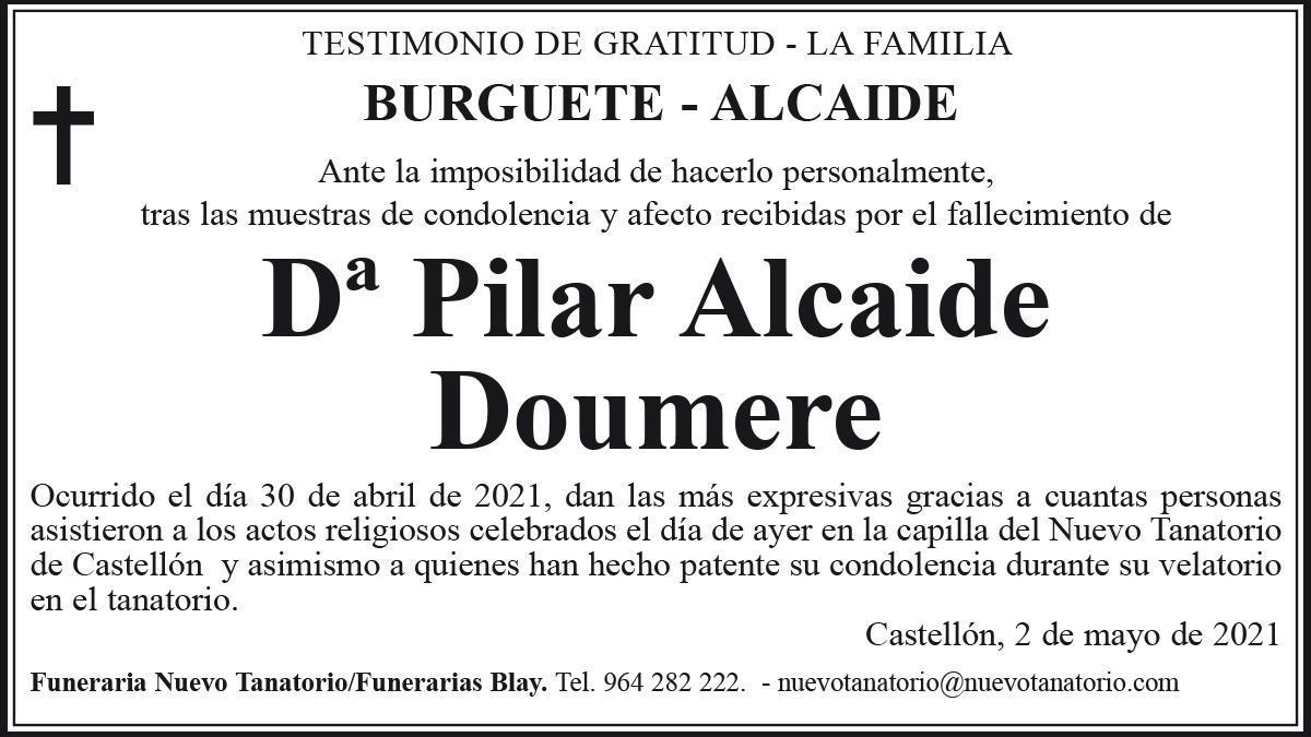 Dª Pilar Alcaide Doumere
