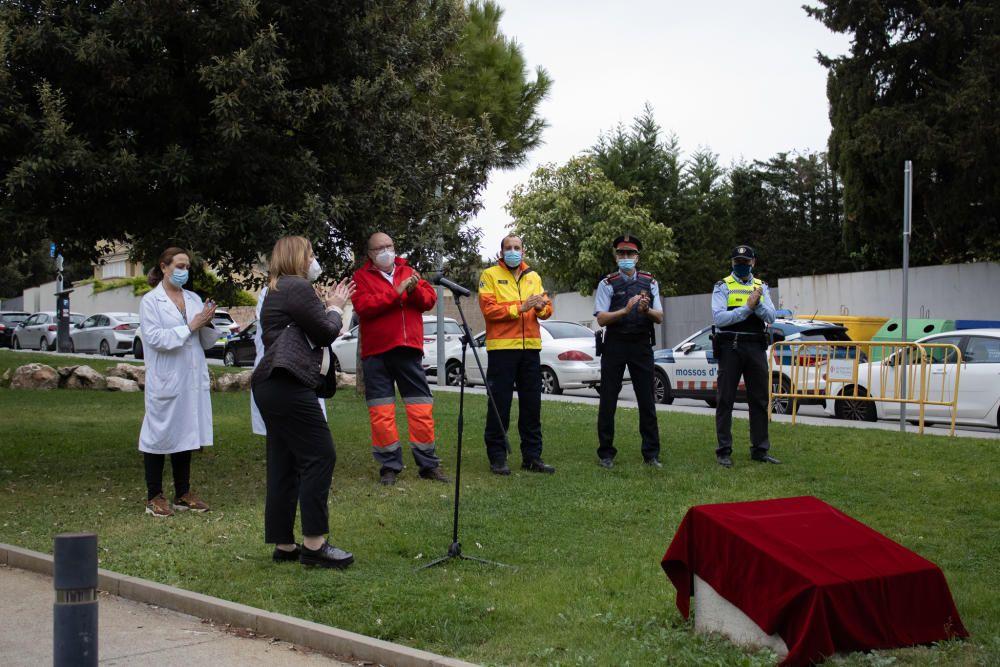 Figueres homenatja el personal essencial per la feina durant la pandèmia