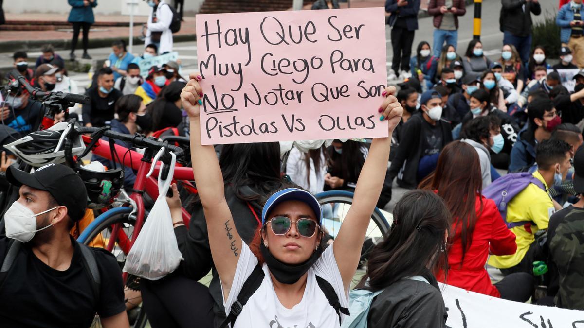 Siguen las manifestaciones en Colombia.