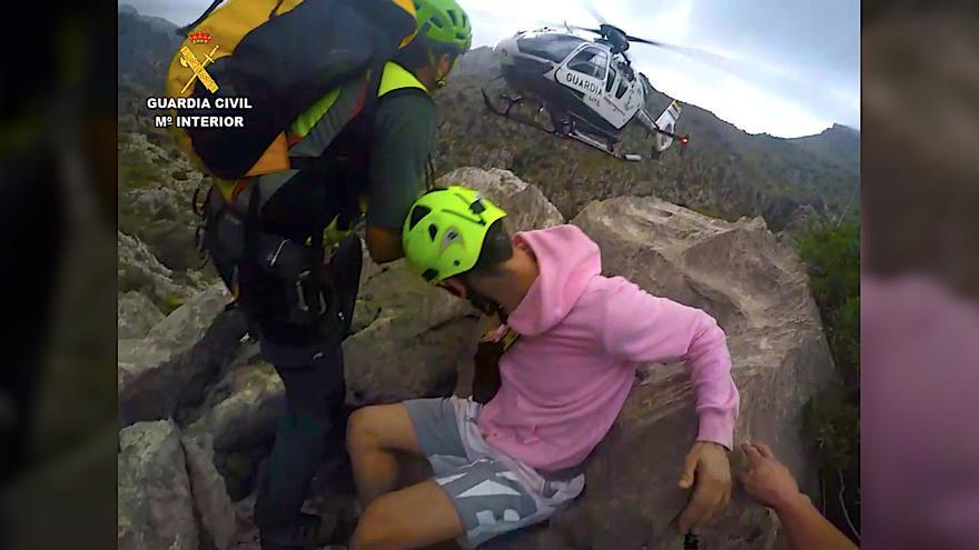 Rescatan en helicóptero a un joven herido en el Torrent de Pareis