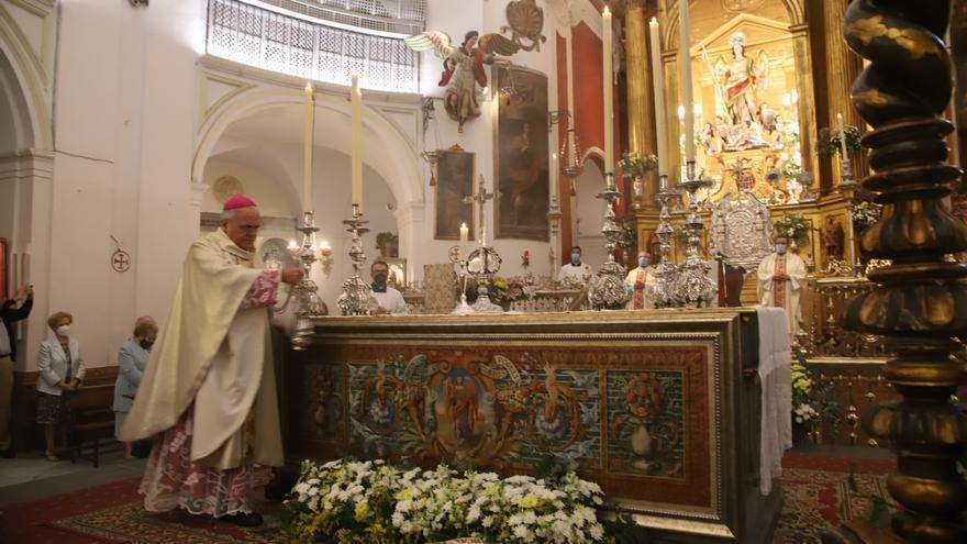 El obispo pide a San Rafael que Córdoba crezca en lo material pero también en lo espiritual