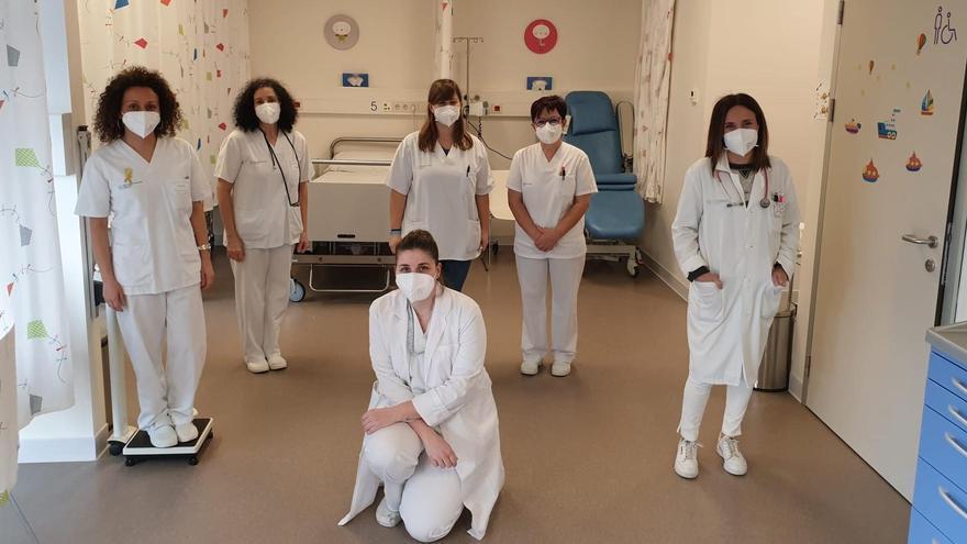 Parte del equipo de la Unidad de Oncología pediátrica.