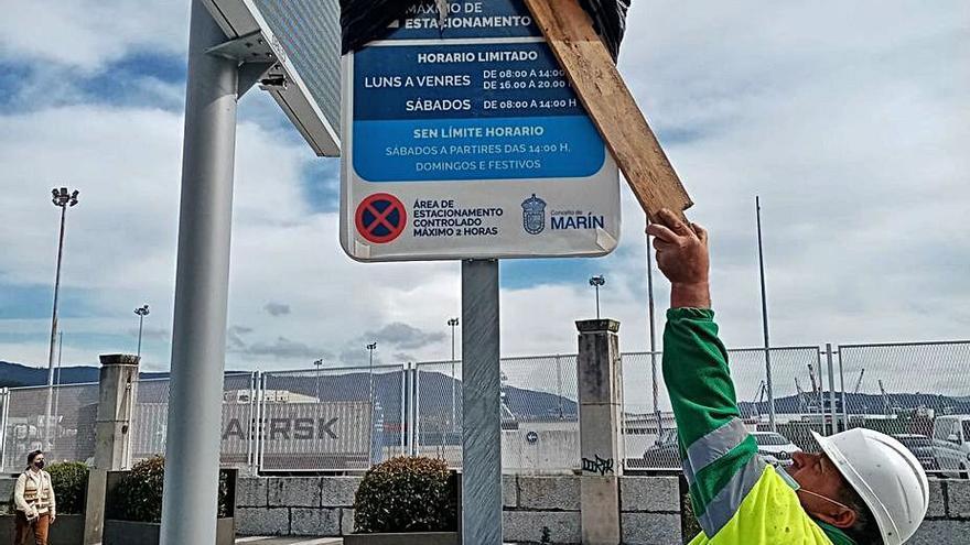 Marín marca las zonas urbanas donde solo se podrá aparcar dos horas desde el lunes